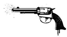 Pintada del revólver Imagenes de archivo