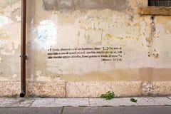 Pintada del texto de la biblia Foto de archivo