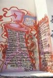 Pintada después de alborotos, Los Ángeles central del sur, California de la cuadrilla imagen de archivo libre de regalías