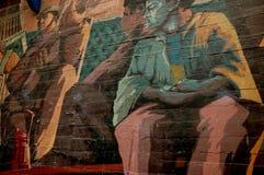 Pintada en Boca Imagen de archivo libre de regalías