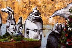 Pintada en el festival urbano de la cultura Imagen de archivo libre de regalías