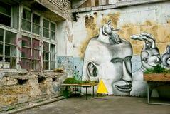 Pintada en el festival urbano de la cultura Imagenes de archivo