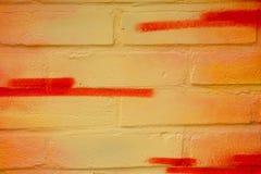 pintada en el primer de la pared Imagenes de archivo