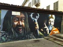 Pintada en la casa de la pared Imagenes de archivo