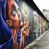 Pintada en la casa de la pared Fotografía de archivo