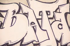 Pintada en la pared Fotografía de archivo