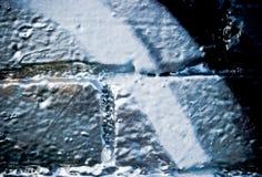 Pintada en la pared de ladrillo textured Fotos de archivo