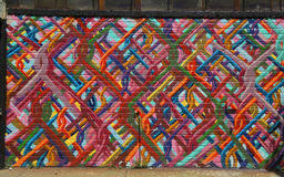 Pintada en la sección de Williamsburg en Brooklyn imagenes de archivo