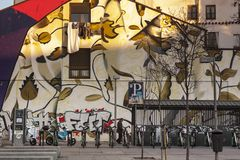 Pintada en las calles de Lavapies madrid Fotografía de archivo libre de regalías