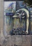 Pintada en las calles de Lavapies madrid Imágenes de archivo libres de regalías