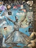 Pintada en las paredes de Estambul fotos de archivo libres de regalías