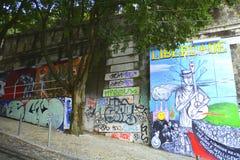 Pintada en Lisboa foto de archivo