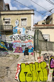 Pintada en Lisboa fotos de archivo libres de regalías