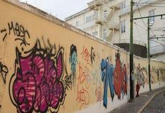 Pintada en Lisboa Foto de archivo libre de regalías