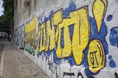 Pintada en Lisboa imagen de archivo