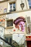 Pintada en Montmartre Imagen de archivo libre de regalías
