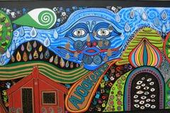 Pintada en nuestra pared de la tienda Imagen de archivo