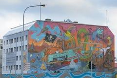 Pintada en Reykjavik imágenes de archivo libres de regalías