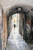 Pintada en un backstreet en Venecia, Italia imagen de archivo libre de regalías