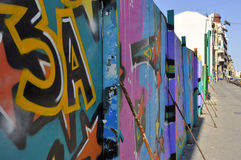 Pintada en una pared en Belgrado central, Serbia Imágenes de archivo libres de regalías