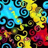 Pintada en una textura inconsútil del grunge del modelo del fondo del color negro del extracto libre illustration