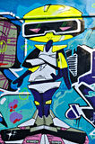 Pintada pintada en la pared del breackwater en el acceso o Imagen de archivo libre de regalías