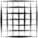 Pintada rociada del grunge de la rejilla en negro sobre blanco Fotografía de archivo