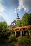 Pintada y vistas de la ciudad abandonada de Consonno Lecco, AIE foto de archivo libre de regalías
