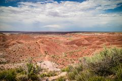 Pintado点在化石森林国家公园,亚利桑那 库存图片