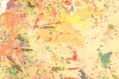 Pintado à mão acrílico do grunge abstrato no fundo da lona ilustração do vetor