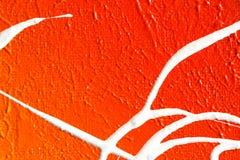 Pintado abstrato (cores vermelhas, alaranjadas e brancas) Fotografia de Stock Royalty Free