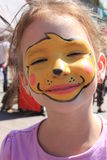 Pintado con la cara Imágenes de archivo libres de regalías