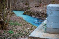 Pintado em um rio azul brilhante imagens de stock royalty free