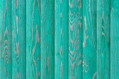Pintado en los paneles de pared de madera de la turquesa textura, fondo Fotografía de archivo