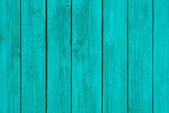 Pintado en los paneles de pared de madera de la turquesa textura, fondo Foto de archivo