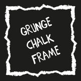 Pintado a mano cuadrado del Grunge con el creyón de la tiza libre illustration