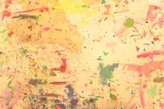 Pintado a mano de acrílico del grunge abstracto en fondo de la lona Foto de archivo
