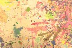 Pintado a mano de acrílico del grunge abstracto en fondo de la lona Fotos de archivo libres de regalías