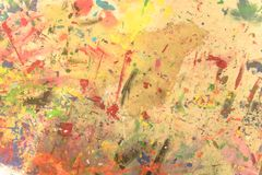 Pintado a mano de acrílico del grunge abstracto en fondo de la lona Fotos de archivo
