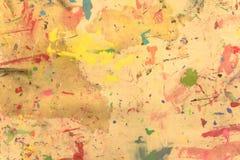 Pintado a mano de acrílico del grunge abstracto en fondo de la lona Foto de archivo libre de regalías