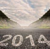 2014 pintados en el asfalto Imágenes de archivo libres de regalías