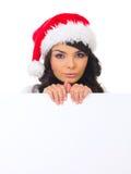 Pintainho do Natal com placa Fotografia de Stock