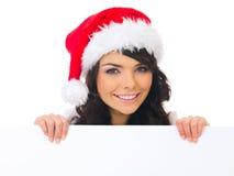 Pintainho do Natal com placa Fotos de Stock