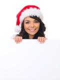Pintainho do Natal com placa Imagens de Stock Royalty Free