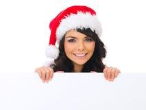 Pintainho do Natal com placa Foto de Stock
