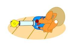 Pintainho e raposa pequenos com wacuum Imagem de Stock Royalty Free