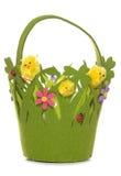 Pintainhos de Easter em uma cesta Imagens de Stock