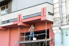 Pintando a fachada Imagem de Stock