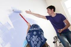 Pintando a HOME nova imagem de stock