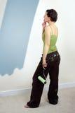 Pintando a parede Fotografia de Stock Royalty Free
